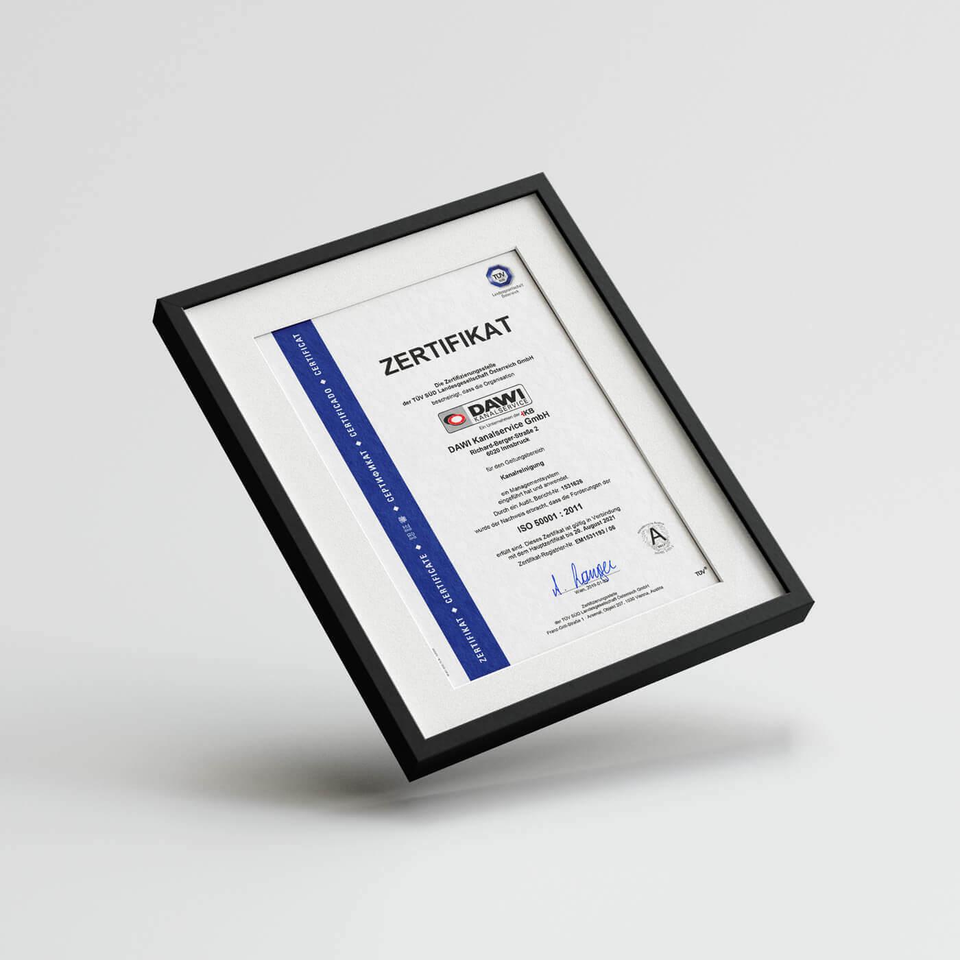 Wir sind zertifiziert nach ISO 50001!