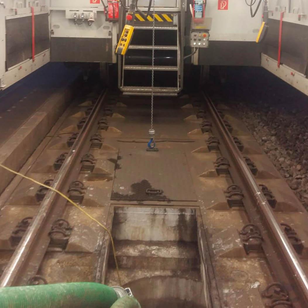TV-Inspektion im Eisenbahntunnel