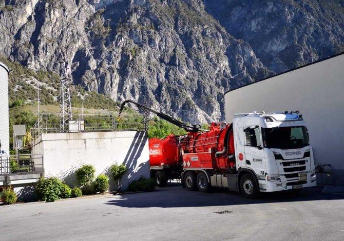 Klärschlamm-Transport